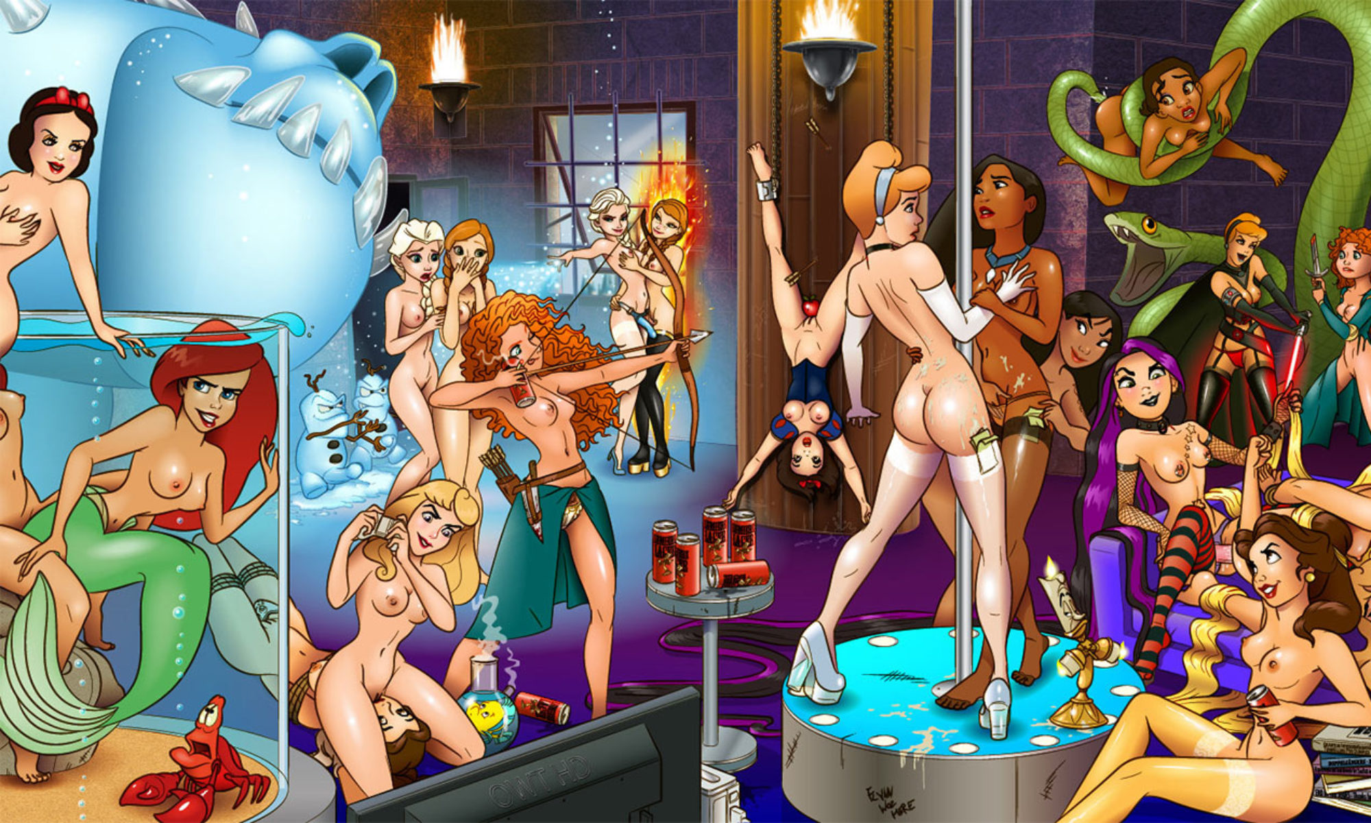 Free nude cartoon movies